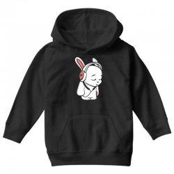 love music cartoon bunny Youth Hoodie | Artistshot