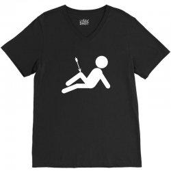 arrow to the knee skyrim video gaming geek elder scrolls V-Neck Tee | Artistshot