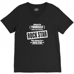 funny rock star V-Neck Tee | Artistshot