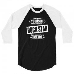 funny rock star 3/4 Sleeve Shirt | Artistshot