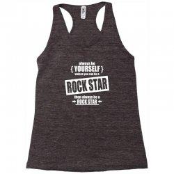 funny rock star Racerback Tank | Artistshot