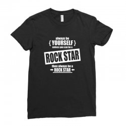 funny rock star Ladies Fitted T-Shirt | Artistshot