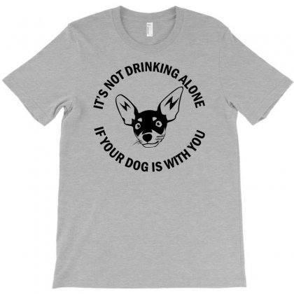 Funny Drinking Dog T-shirt Designed By Gematees