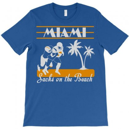 Miami Dolphins Sacks On The Beach Breaking T-shirt Designed By Jokers