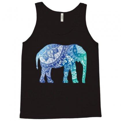 Blue Elephant Tank Top Designed By Hesti