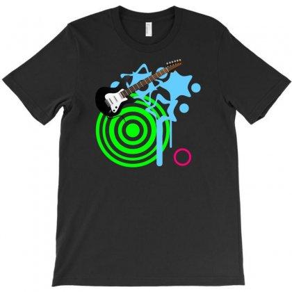 Guitar Retro Music T-shirt Designed By Mdk Art