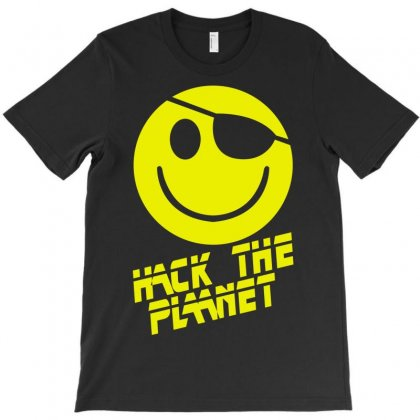 Hack The Planet Movie T-shirt Designed By Mdk Art