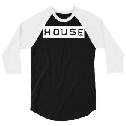 House Club Dance 3/4 Sleeve Shirt Designed By Mdk Art