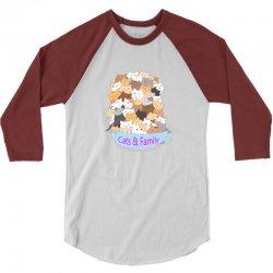 Cats 3/4 Sleeve Shirt | Artistshot