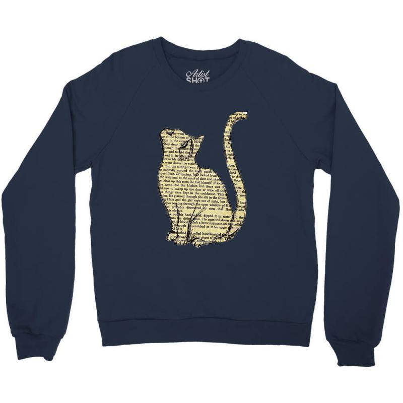 Cats Text Crewneck Sweatshirt | Artistshot