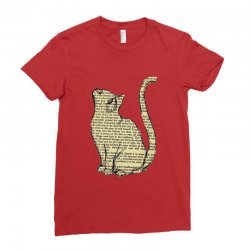 cats text Ladies Fitted T-Shirt | Artistshot