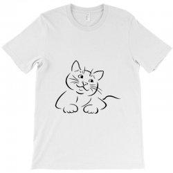 the cat simple T-Shirt | Artistshot