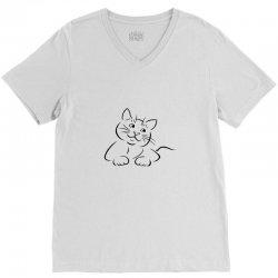 the cat simple V-Neck Tee | Artistshot