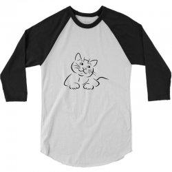 the cat simple 3/4 Sleeve Shirt | Artistshot