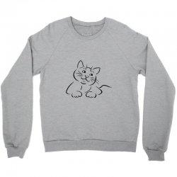 the cat simple Crewneck Sweatshirt | Artistshot