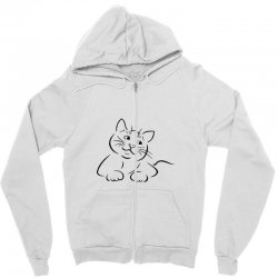 the cat simple Zipper Hoodie | Artistshot
