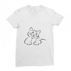 the cat simple Ladies Fitted T-Shirt | Artistshot