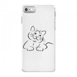 the cat simple iPhone 7 Case | Artistshot
