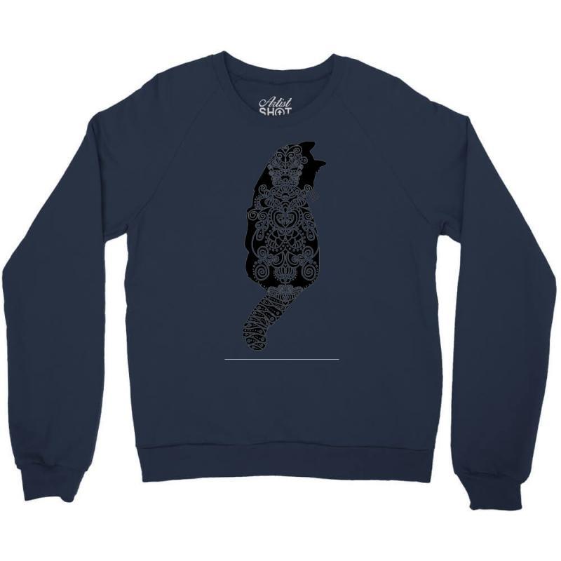 Cats Black Crewneck Sweatshirt   Artistshot