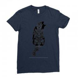 cats black Ladies Fitted T-Shirt | Artistshot