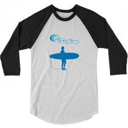 the surfing 3/4 Sleeve Shirt | Artistshot