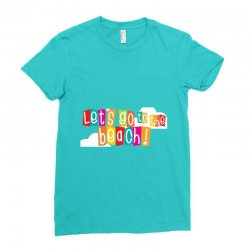 Let's go the beach Ladies Fitted T-Shirt | Artistshot