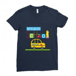 Let's go to school Ladies Fitted T-Shirt | Artistshot