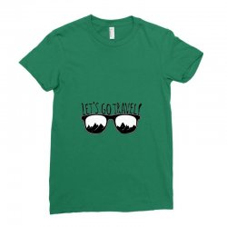 Let's go the Travel Ladies Fitted T-Shirt | Artistshot
