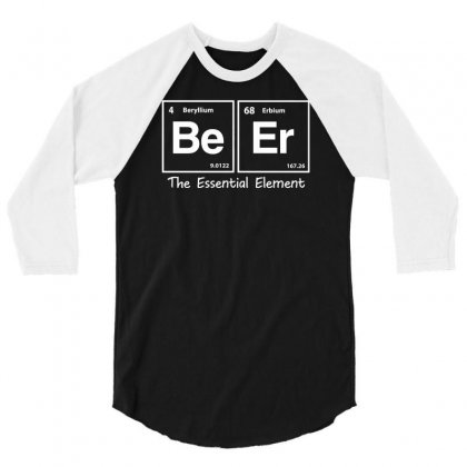 Elements Of Beer 3/4 Sleeve Shirt Designed By Gematees
