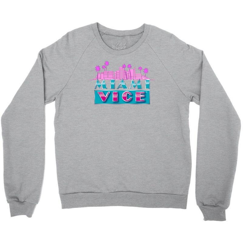 d8313b6c8 Custom Miami Vice Crockett Tubbs Classic Crewneck Sweatshirt By Mdk ...