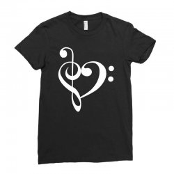 music heart rock baseball Ladies Fitted T-Shirt | Artistshot
