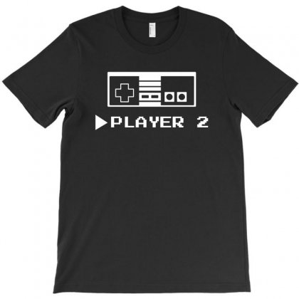 Player 1 Or 2 T-shirt Designed By Mdk Art