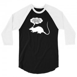 rat funny geek nerd scientific experiments are fun 3/4 Sleeve Shirt | Artistshot