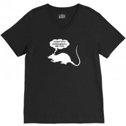rat funny geek nerd scientific experiments are fun V-Neck Tee | Artistshot
