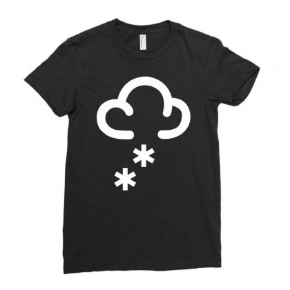 Snow Weather Symbol Ladies Fitted T-shirt Designed By Mdk Art