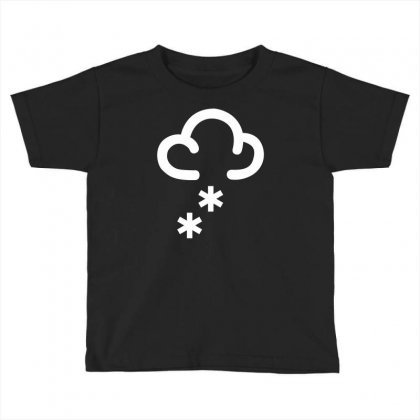 Snow Weather Symbol Toddler T-shirt Designed By Mdk Art