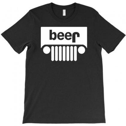 Funny Jeeps Customs Logo On Men Black T-shirt Designed By Mdk Art