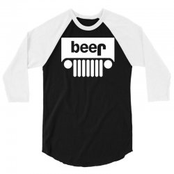 funny jeeps customs logo on men black 3/4 Sleeve Shirt | Artistshot