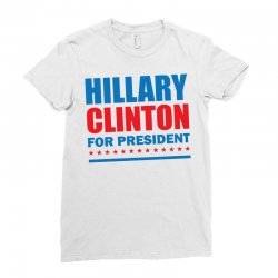 Hillary Clinton For President Ladies Fitted T-Shirt | Artistshot