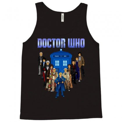 Doctor Who - All The Doctors Tank Top Designed By Eugene