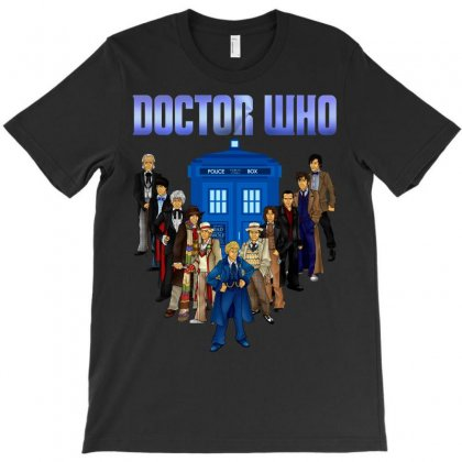 Doctor Who - All The Doctors T-shirt Designed By Eugene