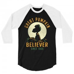 Great Pumpkin Believer 3/4 Sleeve Shirt | Artistshot