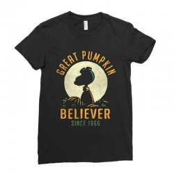 Great Pumpkin Believer Ladies Fitted T-Shirt | Artistshot