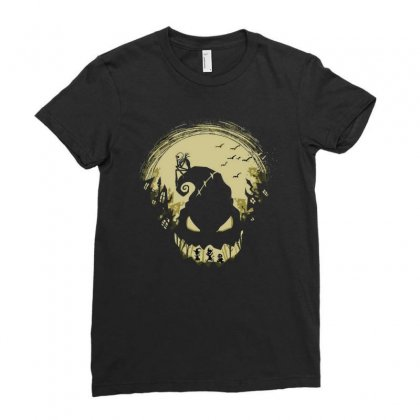 Helloween Ladies Fitted T-shirt Designed By Achmad