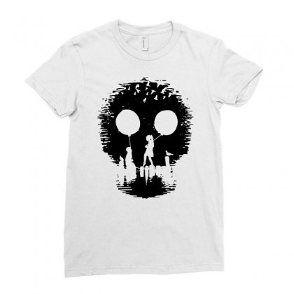 2015 Fashion Print Funny Skull Popular Men   1 Ladies Fitted T-shirt Designed By Mdk Art