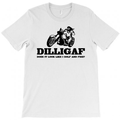 Dilligaf T Shirt Funny Biker's Chopper Motorcycle Motorbike Comedy T-shirt Designed By Mdk Art