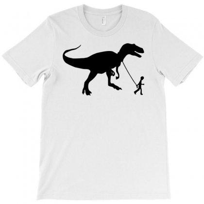 Funny T Rex Pet Banksy Guys Stencil T Shirt Indie T-shirt Designed By Mdk Art