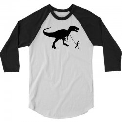 funny t rex pet banksy guys stencil t shirt indie 3/4 Sleeve Shirt | Artistshot