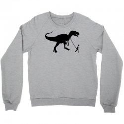 funny t rex pet banksy guys stencil t shirt indie Crewneck Sweatshirt | Artistshot