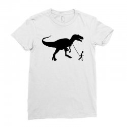 funny t rex pet banksy guys stencil t shirt indie Ladies Fitted T-Shirt | Artistshot